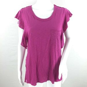 We the free people so easy ruffle sleeve top small